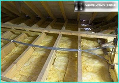 Thermal insulation of ceiling
