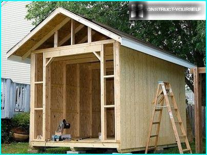 Ready frame shed