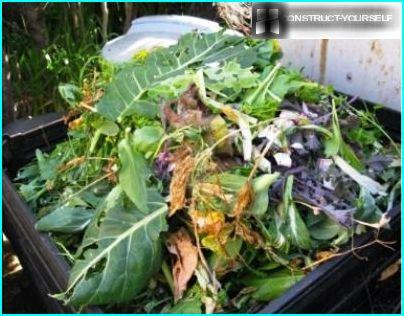 The composition of the compost