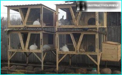 Rabbit hutches with wooden frame