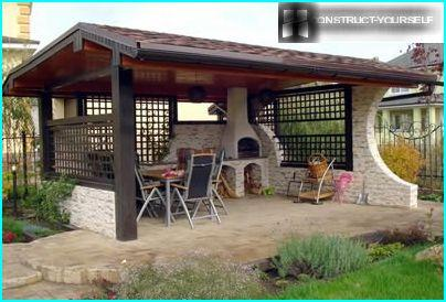 Kitchens are equipped with ovens and grills