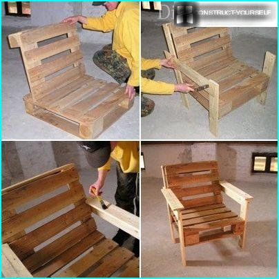 The process of making a garden chair