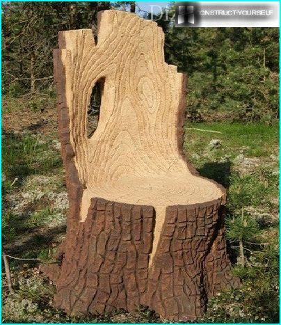 Sessel aus Holz