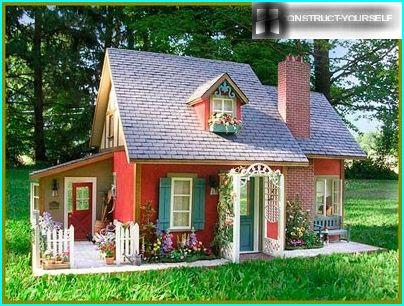 Haus aus Sperrholz