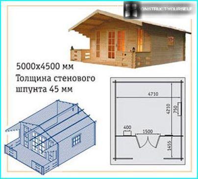 Plāns un skats no mājas