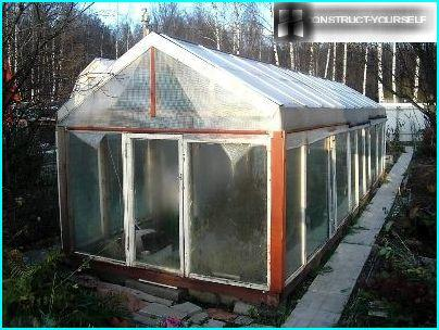 Material roof greenhouse