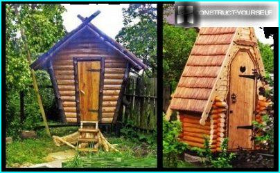 ห้องน้ำชานเมืองที่สร้างขึ้นในกระท่อมไม้ที่แปลกตา