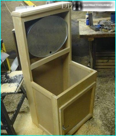 Washbasin assembled ready for painting