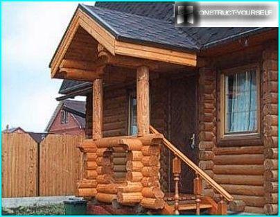 дерев'яний козирок
