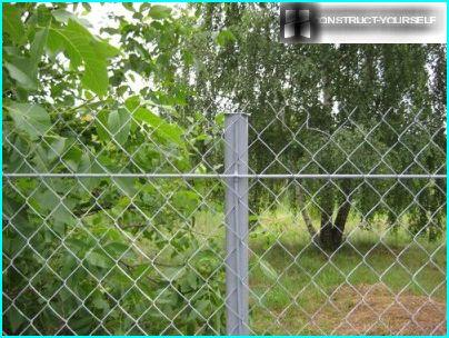 Fence netting - fasten the rod