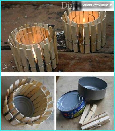 Lamp of tin