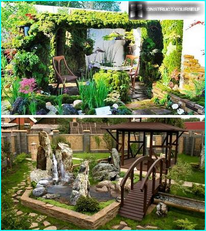 Features of arrangement of recreational areas