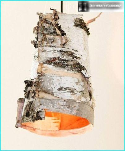 Lamp of birch bark