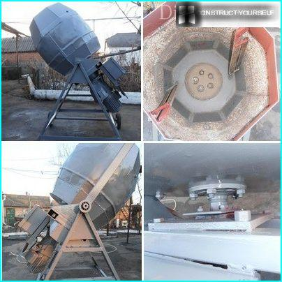 Concrete Mixer, welded from sheet steel