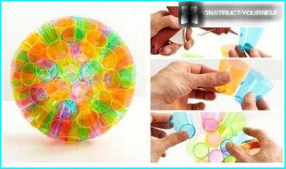 Lamp of plastic cups