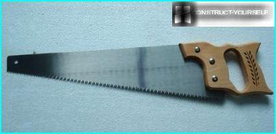Steel blade handsaw