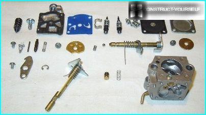 karburatora daļas