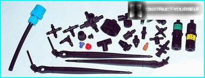 Accessories for assembly of drip irrigation systems with their own hands