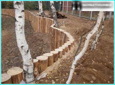 Installation log piles