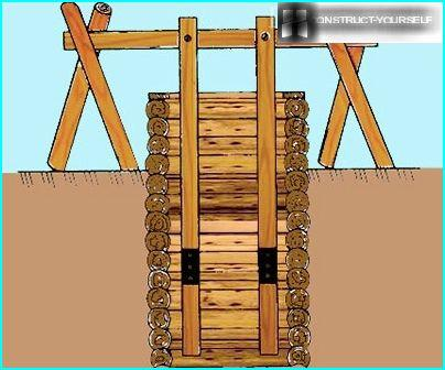 Wooden well