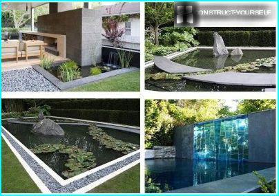 Pond in the avant-garde garden