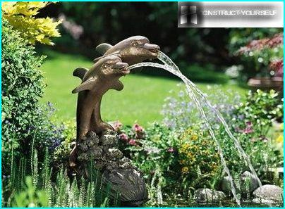 Decorative single-jet fountain