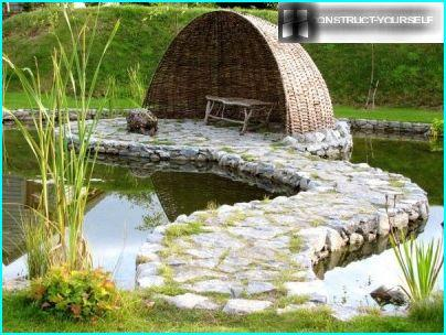 Pond in the Celtic style