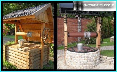In der russischen bekommen das Brunnenwasser aus der Mine, Wickeln der Kette auf der Trommel