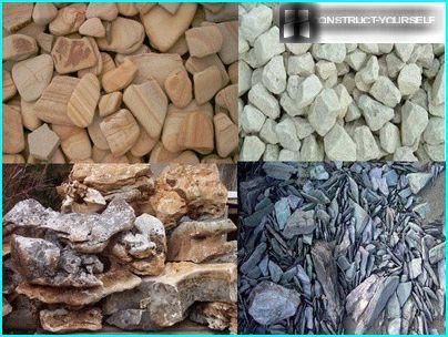 Dabīgie akmeņi gultas