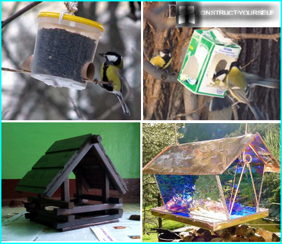 Feeders made of different materials