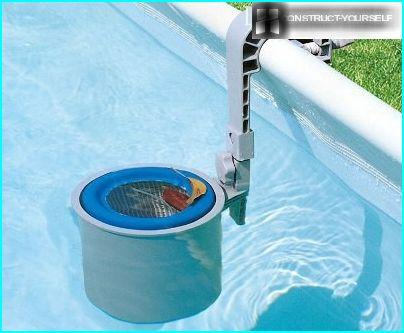 Skimmer for inflatable pools