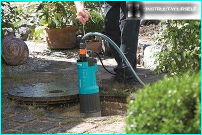 Submersible pump in the well