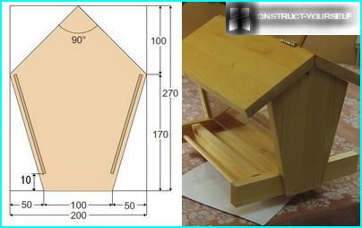 Making wooden trough