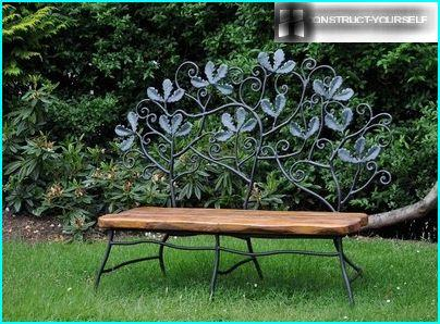 Bench for a poet