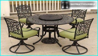 Set for verandas