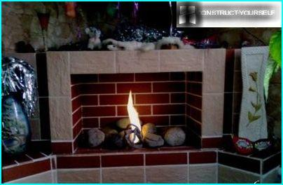 Corner version of the fireplace