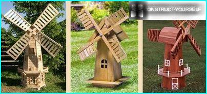 Mehrere Mühlen-Modelle