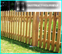 A fence made of wooden picket: technology of erection of the most popular protections