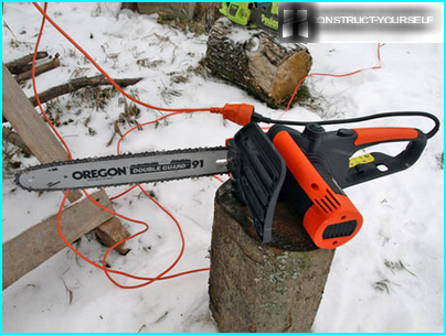 Extension for working with electric saw