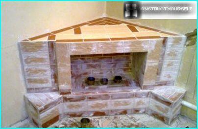 Facing the fireplace tiles
