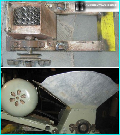 Features of the hopper attachment and the housing