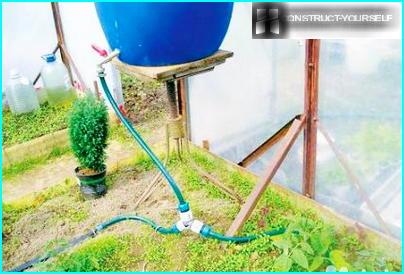 Homemade irrigation system with irrigation timer