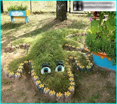 Flowerbed crocodile