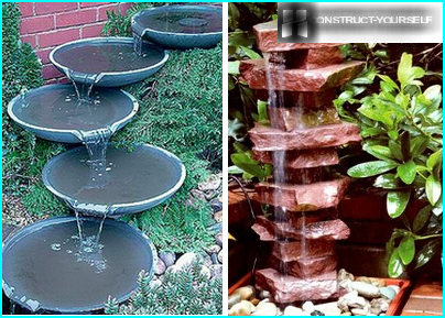 Fountains made of scrap materials
