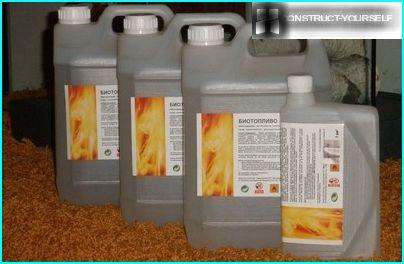 Special fuel for bio fireplaces