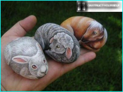 Dzīvnieki uz akmens