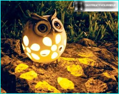 The lamp in the form of an owl