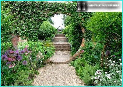 Mājas dārzs ceļš
