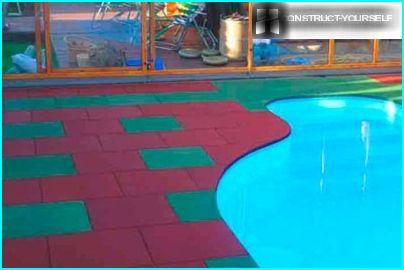 Rubber tiles is an excellent material for finishing semi-aquatic areas