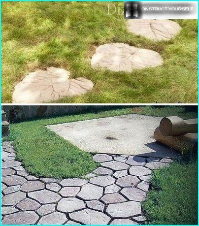 Оригінально виконані садові доріжки
